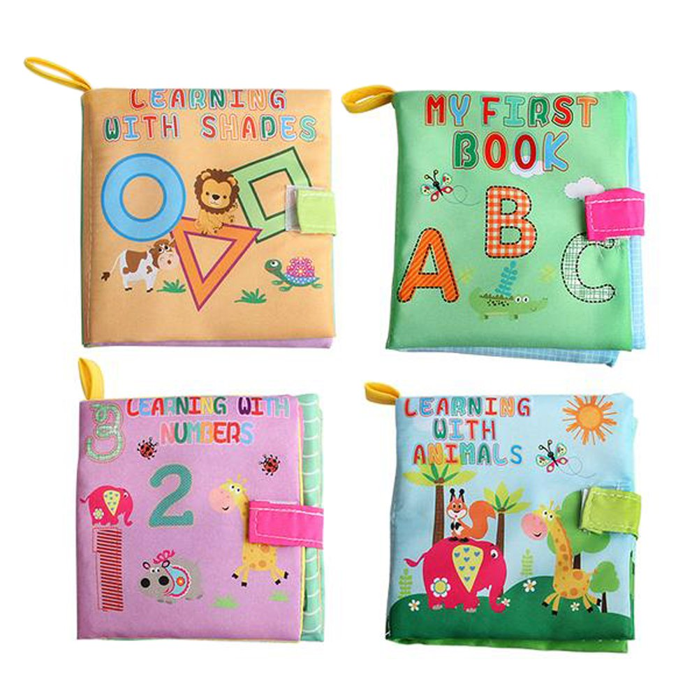 Kids Education Puzzle Toy Baby Cloth Book Bed Animals Cognize Soft Creative GA
