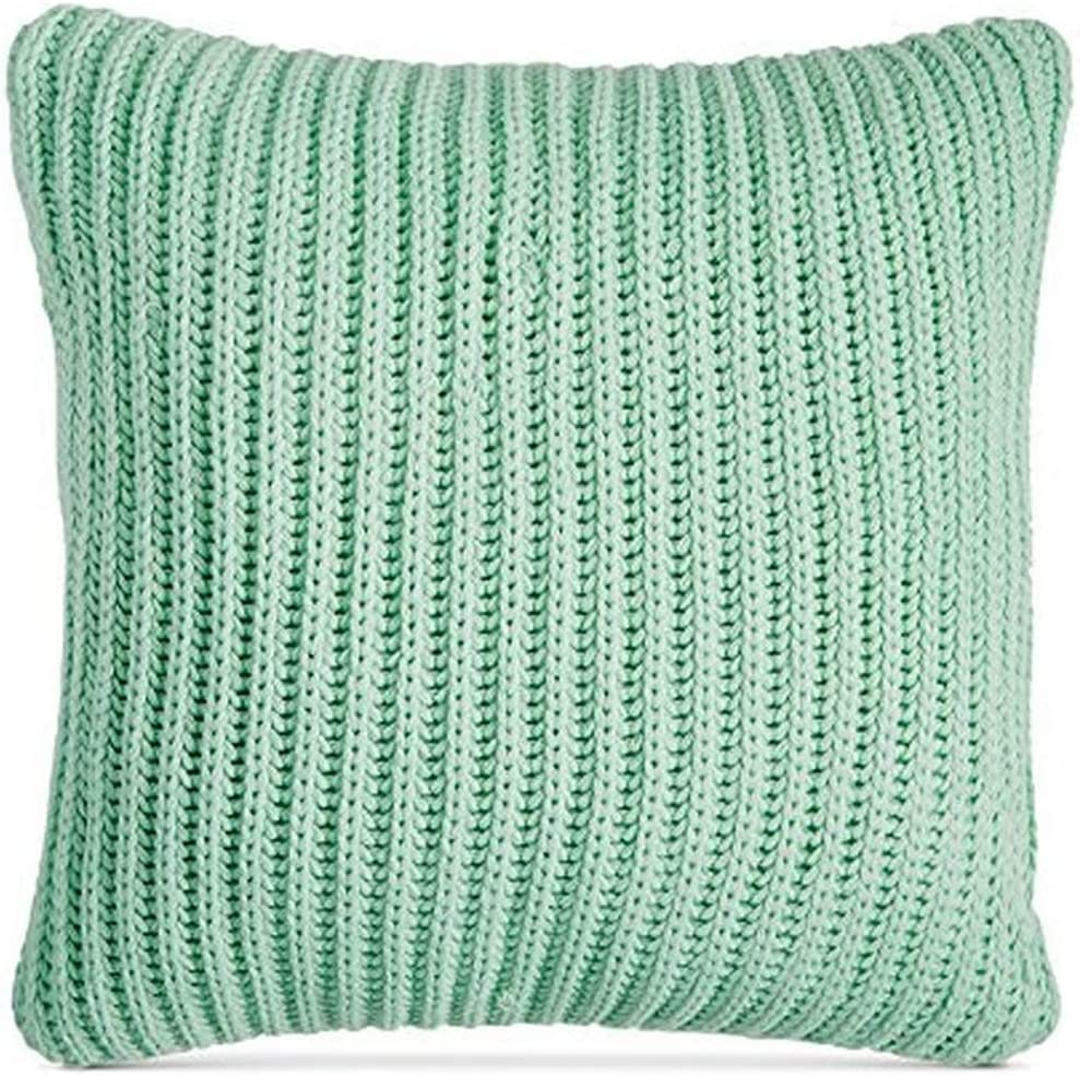 Amazon Com Charter Club New Throw Deco Knit Throw Pillow 20 Mint Green Damask Designs Home Kitchen