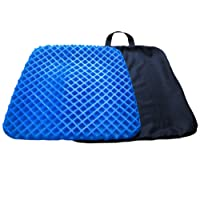 Mermaker Gel Seat Cushion Gel Pad with Washable Cover, Support Cushion Summer Cool Breathable Honeycomb Cushion Absorbs Pressure Points Office Chair Car Seat Cushion - Blue