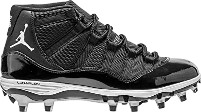 1d25507459a673 Nike Mens Air Jordan XI 11 Retro TD Football Cleats Black White Metallic  Silver