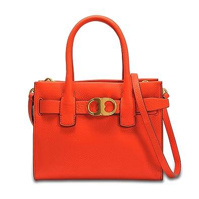4ad9ad5961c Amazon.com  Tory Burch Gemini Link Ladies Small Leather Tote Handbag  43676801  Shoes