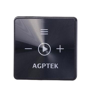 deedf3bd6 AGPTEK Reproductor de Mp3 Receptor Bluetooth 8GB A15 Mini Reproductor de  Música con Clip, Color Negro: Amazon.es: Electrónica