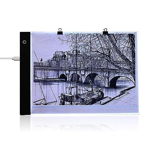 Aibecy Mesa de luz de trazado A4 ultrafino portátil LED Artcraft ...