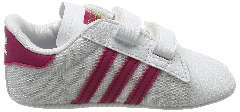 adidas Unisex Baby Superstar Crib Gymnastikschuhe, Elfenbein (FTWR White/Bold Pink/FTWR White), 20 EU