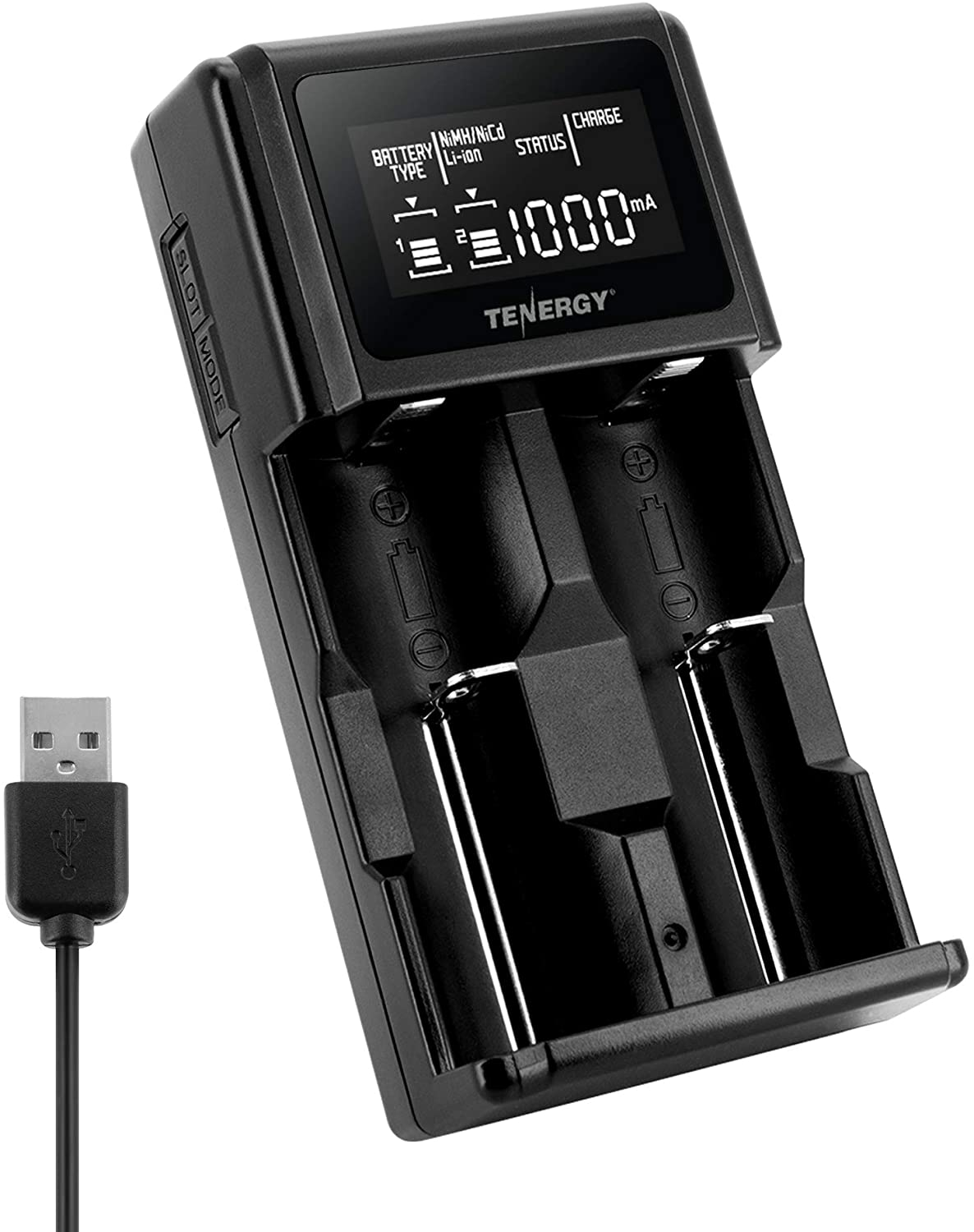 USB Port Universal 18650 Battery Charger Li-ion Charged State ha