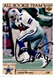 Larry Brown Signed 1992 Upper Deck #52 All Rookie