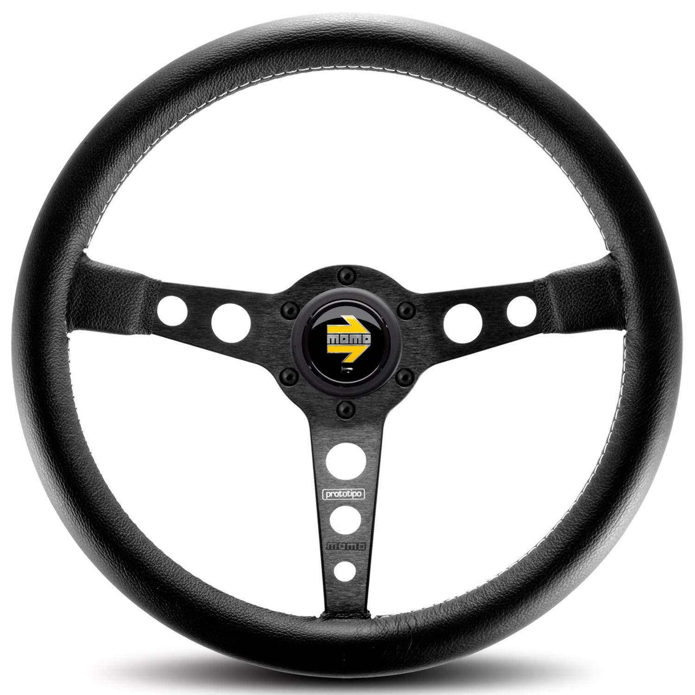 MOMO PRO35BK2B Prototipo Black 350 mm Leather Steering Wheel