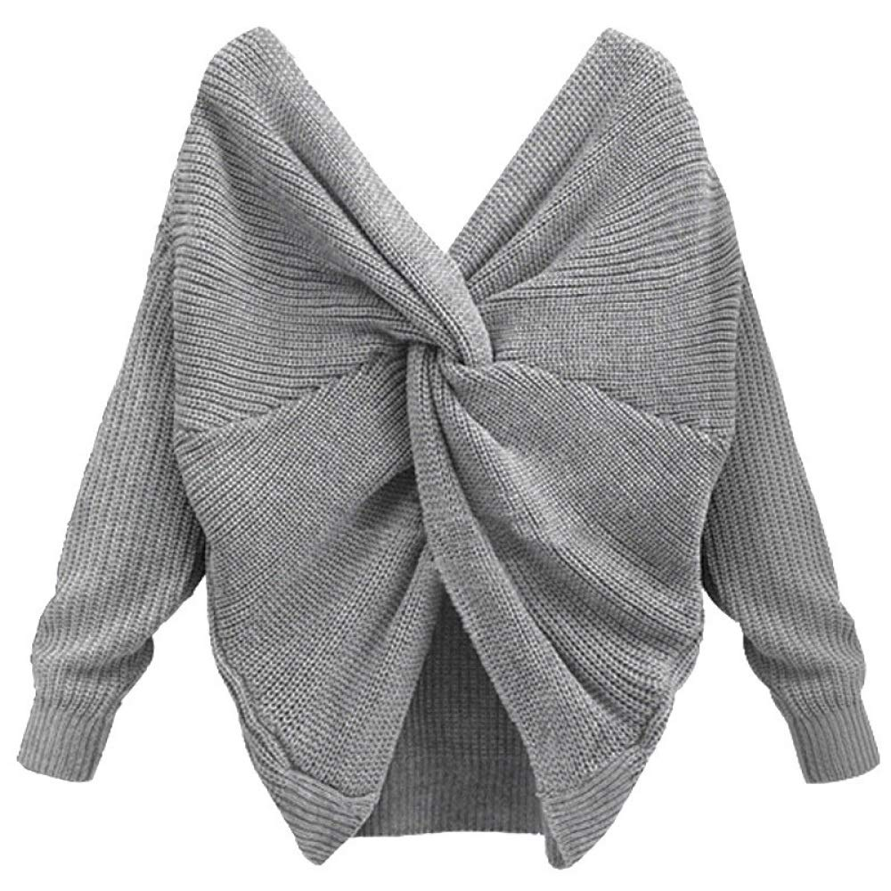 Buy FidgetGear Women V Neck Backless Sweater Cross Wrap