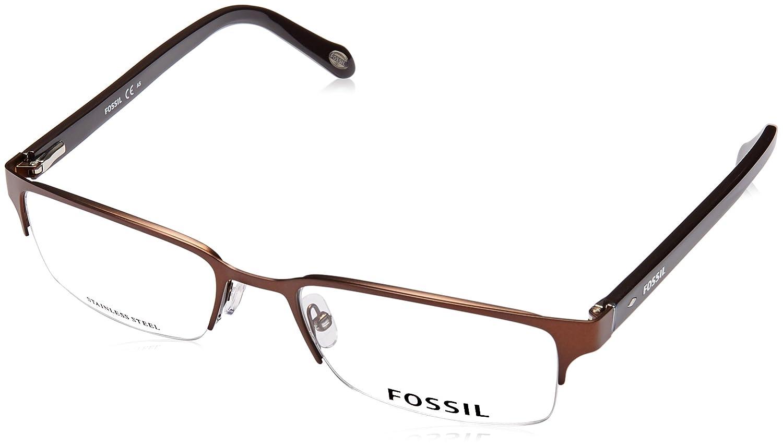 dd6b555dcab FOSSIL 6024 Eyeglasses 0GAO Matte Dark Brown 53-19-140  Amazon.co.uk  Shoes    Bags