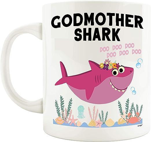 Amazon.com: Godmother Shark Mug Funny Coffee Gifts - Godmom ...