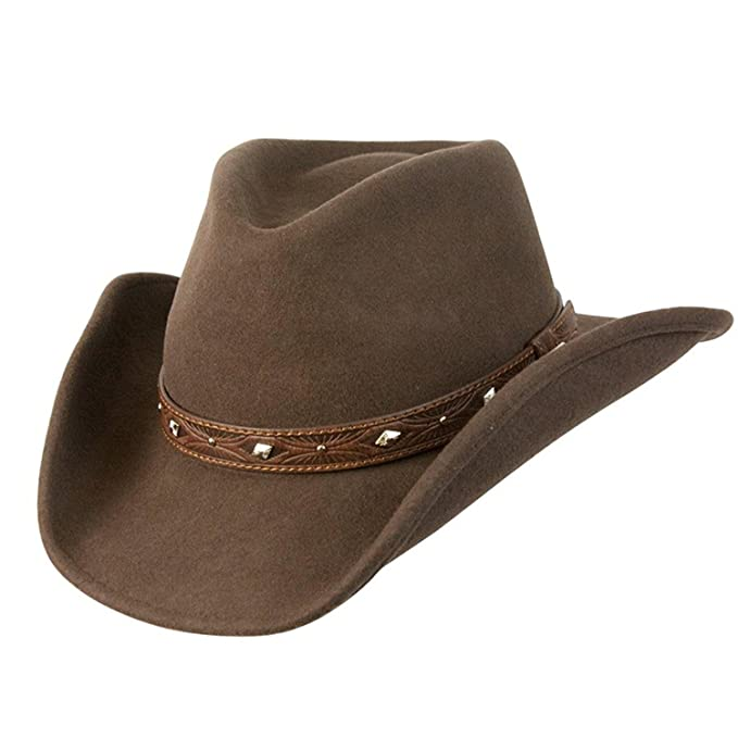 1b5fd4e7630 Conner Hats Men s Dakota Shapeable Western Wool Hat at Amazon Men s  Clothing store