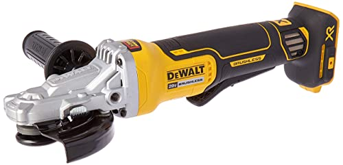 DEWALT 20V MAX XR Angle Grinder with Brake, 5-Inch, Flathead Paddle Switch, Tool Only DCG413FB