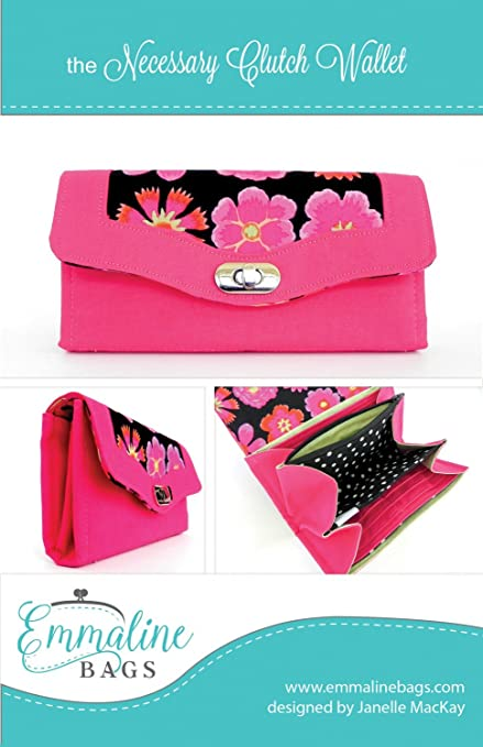 Amazon.com: Emmaline Bags the Necessary Clutch Wallet Sewing Pattern ...
