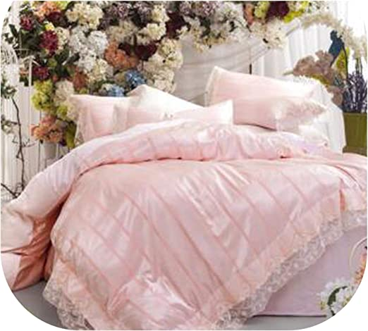 Wedding bedding set Upscale duvet cover bed sheet 2 pillowcases Embroidery Lace