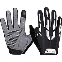 simhoa 1 Pair Cycling Gloves Men Mountain Bike Gel Pad Shock-Absorbing Anti- Slip Touchscreen Gloves Breathable MTB Road…