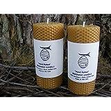 Edinboro Beeswax 5.5-Inch Pillar Candles, Set of 2