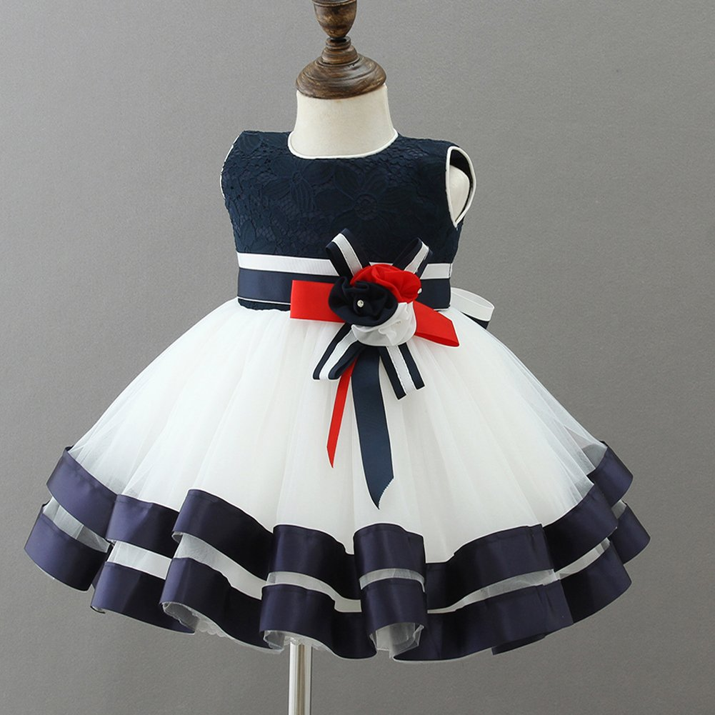 Amazon.com: AHAHA Baby Girl Dresses Princess Wedding Blue Dresses Special Occasion Party Dress for Baby Girls: Clothing