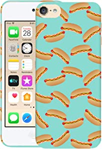 Glisten iPod Touch 7th / 6th / 5th Generation Case - Hot Dog Food Design Printed Sleek, Slim Fit & Cute Plastic Hard Snap on Designer Back Case for iPod Touch 7th / 6th / 5th Gen.