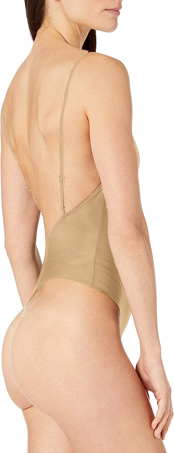 Only Hearts Womens Second Skins Low Back Thong Bodysuit Lingerie Set