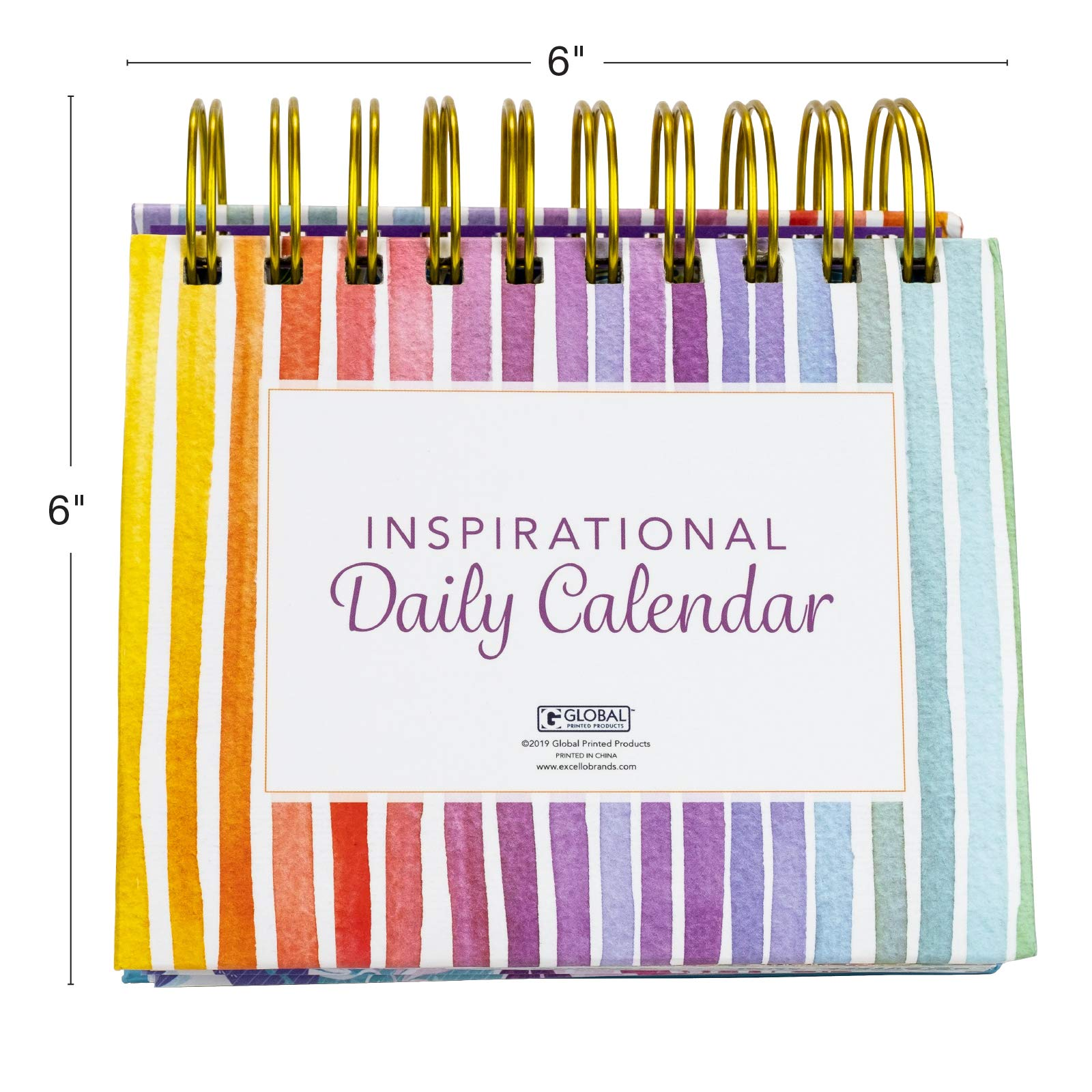 Moivational /& Inspirational Perpetual Daily Flip Calendar with Self-Standing Easel