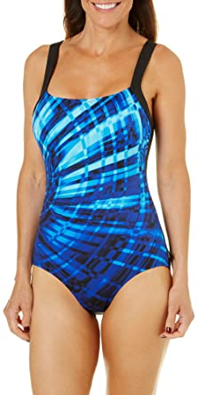 823dc314f25c5 Reebok Women's Laserfocus Constructed One Piece Swimsuit at Amazon Women's  Clothing store: