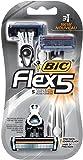 BIC Flex 5 Men's Disposable Razor, 3-Count (2 packs)