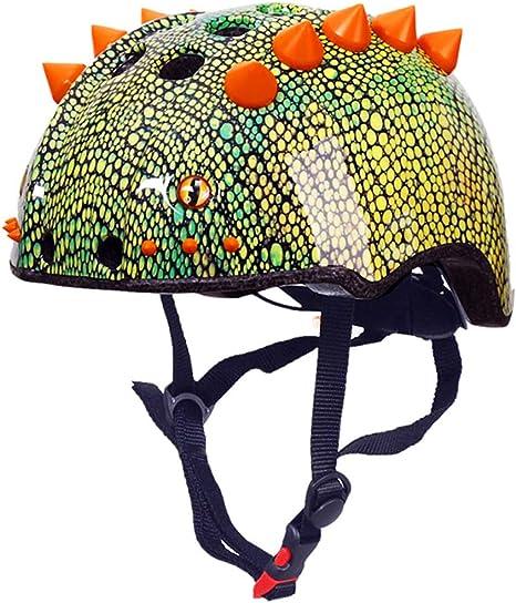 HWJF Casco Deportivo para niños Dinosaurio Casco 3D Bicicleta para ...