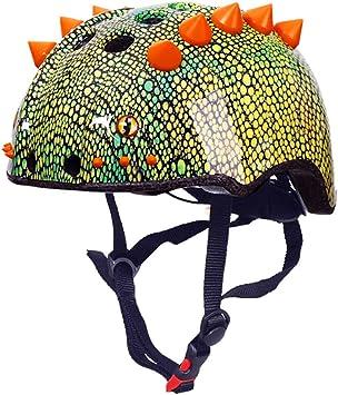Lespar Casco de Bicicleta Dinosaurios para ni/ños Unisex Juventud ni/ño Casco de Bicicleta Dinosaurio Casco de Bicicleta ni/ños Patinador Casco Ajustable certificaci/ón CE