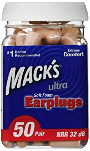 Mack's Ultra Soft Foam Earplugs, 50 Pair (Pack of 2)