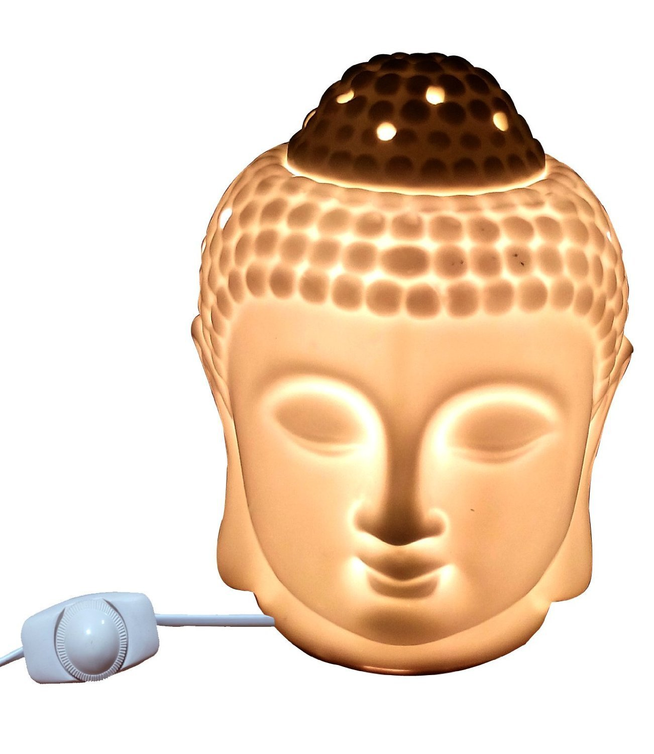 Jaz Deals Electric Ceramic Large Buddha Idol Aroma Diffuser White ... for Electric Fragrance Diffuser Lamp  300lyp