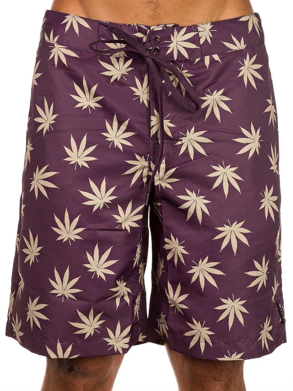 HUF Plantlife Board Shorts - Black/Green