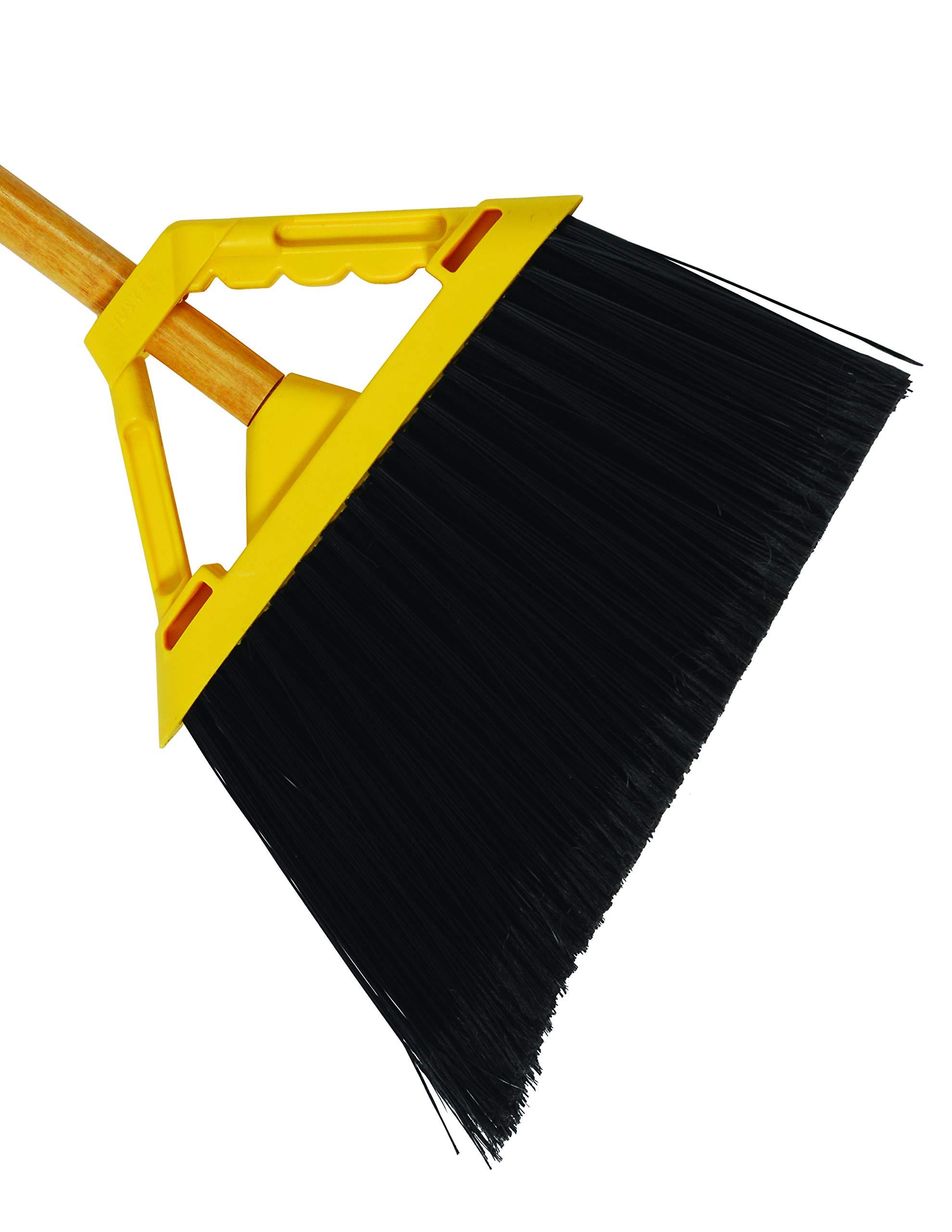 Disco Huskee Heavy Duty Sweep Angle Broom, 6 inch Bristle Length -- 6 per case.