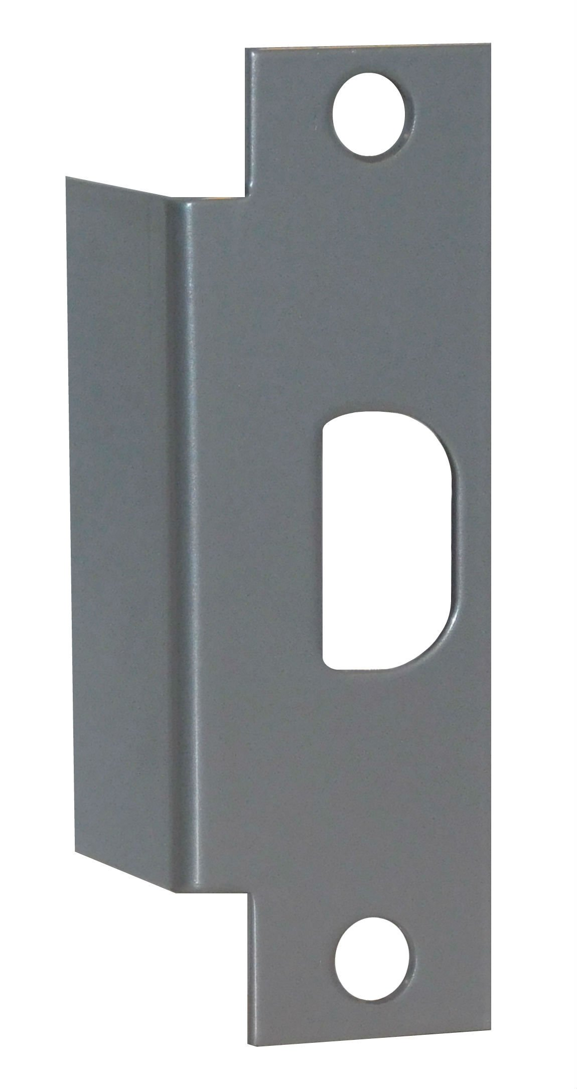 Don-Jo Electric Strike Conversion AF-261 Silver Lacquer Finish 4 7/8 Inch Convert Electric Strike Prep To Cylindrical Lock Strike Prep