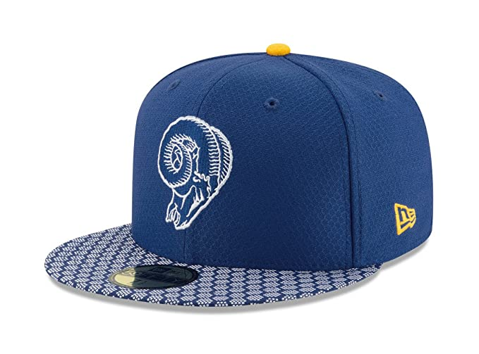 1a804cc426d New Era 5950 Los Angeles Rams Onfield 2017  quot Sideline quot  Fitted Hat  ...