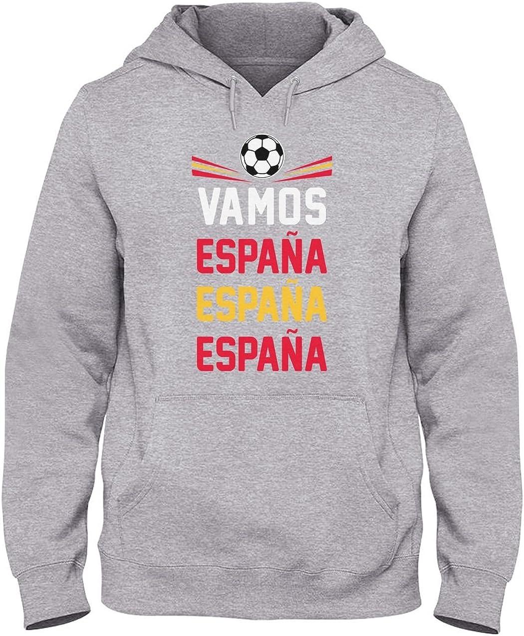 Green Turtle T-Shirts Sudadera con Capucha para Hombre - Vamos España - Apoyemos a la Selección Española! Small Gris: Amazon.es: Ropa y accesorios