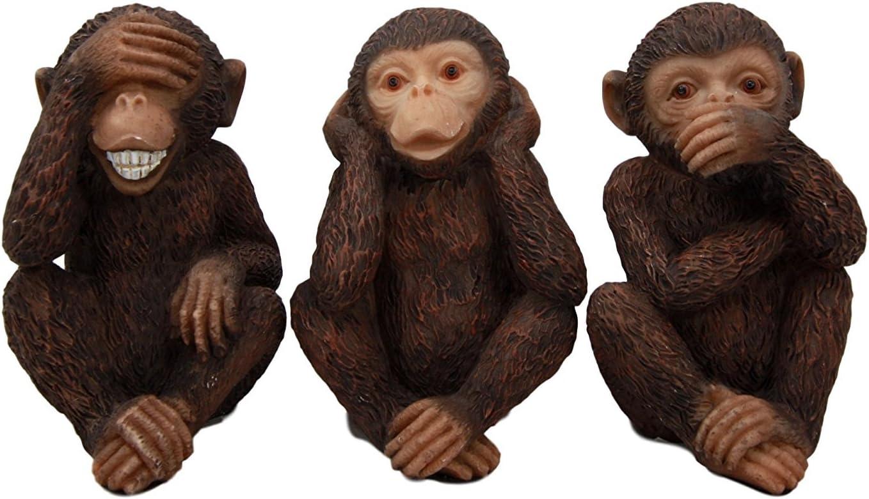 Three Wise Monkeys Art Print on Vintage Book Page See Hear Speak No Evil Gifts