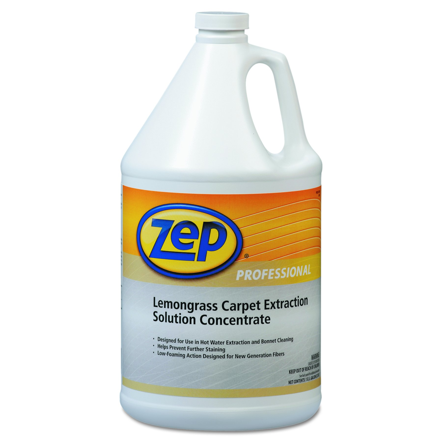 Zep Professional 1041398EA Carpet Extraction Cleaner, Lemongrass, 1 gal Bottle by Zep Professional