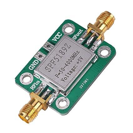 Amplificador de RF Módulo, Akozon LNA 50-4000MHz SPF5189 Amplificador de señal R para FM HF VHF/UHF Ham Radio