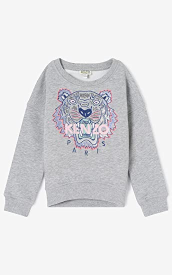 46046e60 Kenzo Kids Tiger Sweatshirt Light Marled Grey KK15048 20 16A (14A):  Amazon.co.uk: Clothing
