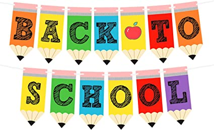Amazon.com: Back to School Banner - Teacher Banner for First Day ...