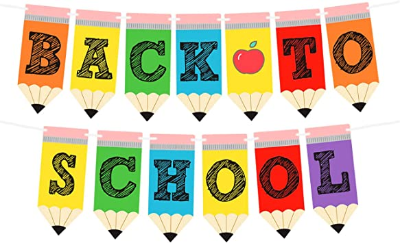 Kreatwow Back to School Banner - Teacher Banner for First Day of School  Decorations Welcome Back to School Party Classroom Decorations