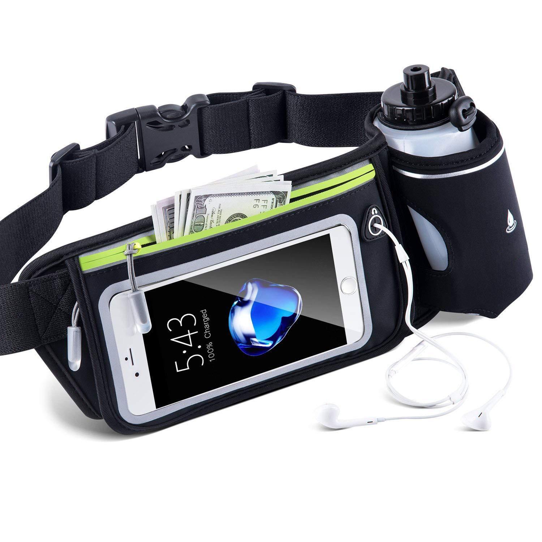 CRZJ ランニングベルト ウエストパック ランナー用ファニーパック アウトドア携帯電話ホルダー デュアルポケット付き iPhone 6 7 X 8 8 Plus Samsung Galaxy Android携帯電話用 反射防水ランニングアクセサリー   B07KRJHBN7