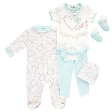 06bccc19c Kyle & Deena - Six Piece Floral Baby Clothes Set - 3-6 MTHS: Amazon ...