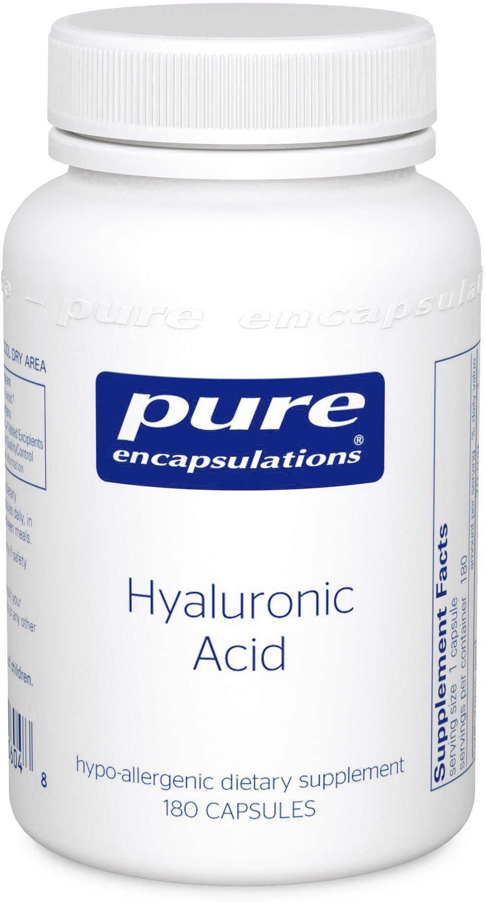Pure Encapsulations - Hyaluronic Acid - Hypoallergenic Supplement Supports Skin Hydration, Joint Lubrication and Comfort* - 180 Capsules by Pure Encapsulations