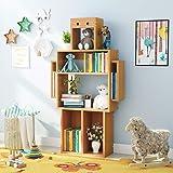 Tribesigns 4 Shelf Kids Wooden Bookcase With Storage Original Robot Molding