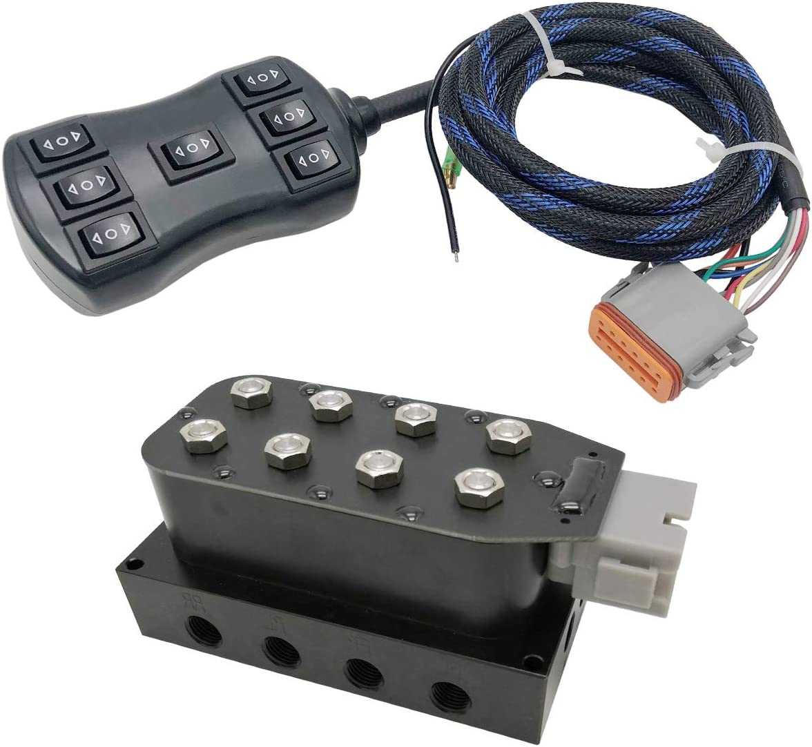 VEVOR Air Suspension Valve 3//8 NPT VU4 Solenoid Valve Manifold Air Suspension with Control Wiring Harness
