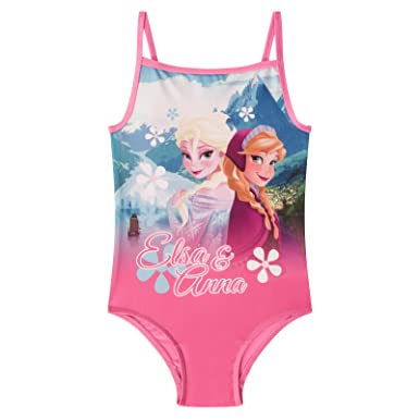 8980946bc21a3 Disney Frozen Elsa Anna Official Gift Girls Swim Suit Costume Pink 3-4 Years