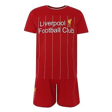 wholesale dealer c2b7d eb94f Liverpool FC Red Boys Kit Pyjamas Set 19/20 LFC Official ...