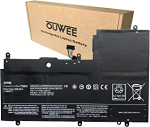 OUWEE L14M4P72 Laptop Battery Compatible with Lenovo Yoga 3 14inch Yoga 3-1470 IdeaPad Yoga 700-14ISK Series Notebook L14S4P72 5B10K10224 5B10K10226 5B10G75095 5B10G84689 7.4V 45Wh 6280mAh