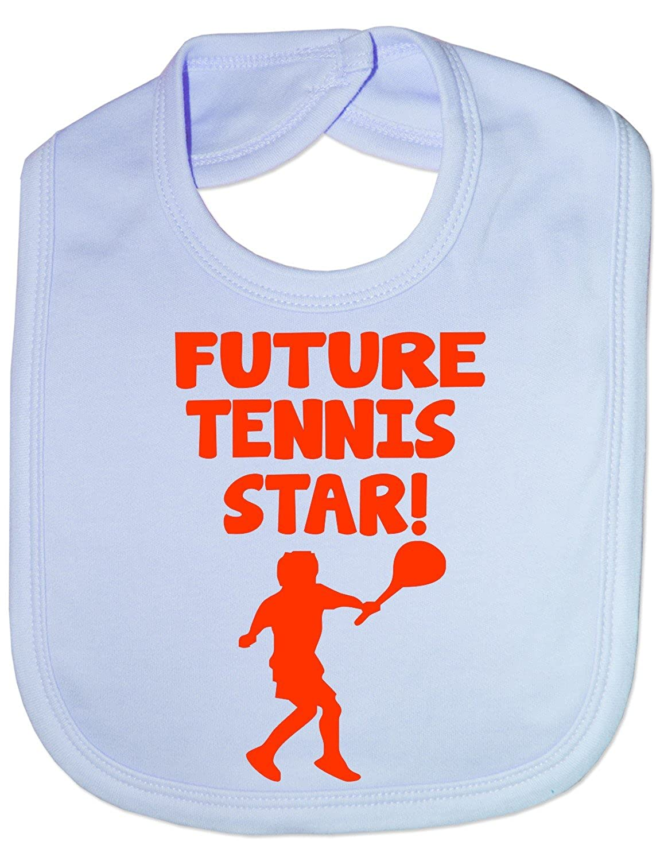 Print4U Unisex Babys Future Tennis Star Baby Bib